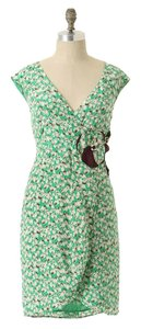 Anthropologie short dress Green Tulip Moulinette Soeurs Silk on Tradesy