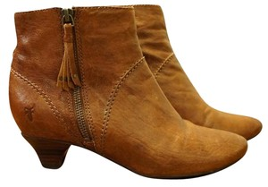 Frye Ankle Leather Brown Boots