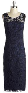 Tatyana Sheer Lace Midi Sheath Pencil Dress