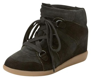 Isabel Marant Suede Wedge Black Boots