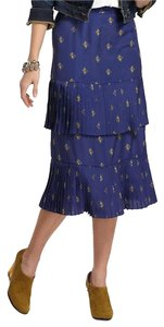 Plenty by Tracy Reese Tiered Tea Skirt Blue