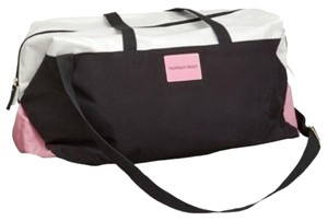 Victoria's Secret Getaway Travel Duffle Tote Black/White/Pink Travel Bag