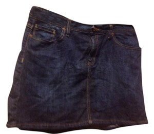Gap Mini Style 1969 Like New Mini Skirt Dark rinse denim