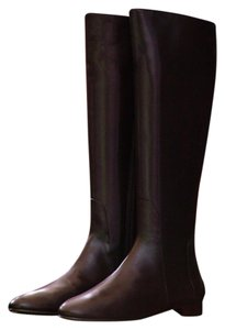 Delman Leather Knee High Dark Brown Boots