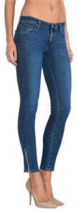 AG Adriano Goldschmied Zip-up Legging Ankle Skinny Jeans-Medium Wash