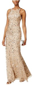 Adrianna Papell Cut-out Sequin Racer-back Dress