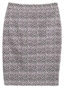 J.Crew Polka Dot Pencil Skirt White, Purple, Blue