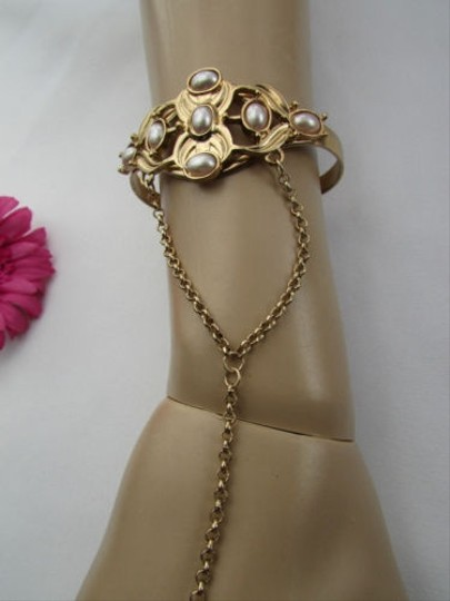 Other Women Cuff Bracelet Slave Ring Fashion Gold Metal Hand Chain Fashion Harness