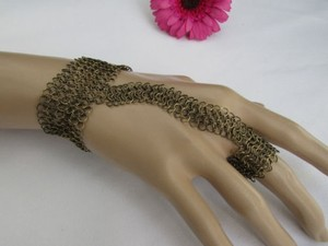 Other Women Antique Gold Long Hand Multi Chain Slave Wrist Bracelet Ring