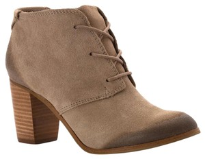 TOMS Lunata Bootie Lace Up Taupe Boots