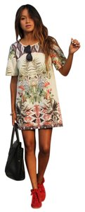 Zara short dress Multi Shift Tropical on Tradesy
