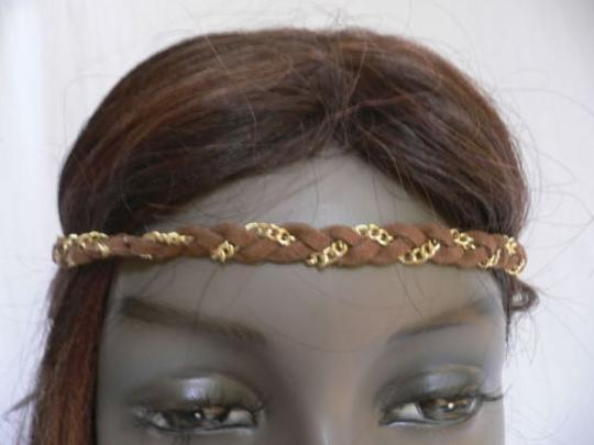 Other Women Elastic Gold Head Chain Jewelry 80s Fashion Hair Band