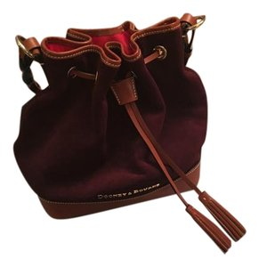 Dooney & Bourke & Suede Leather Hobo Shoulder Bag