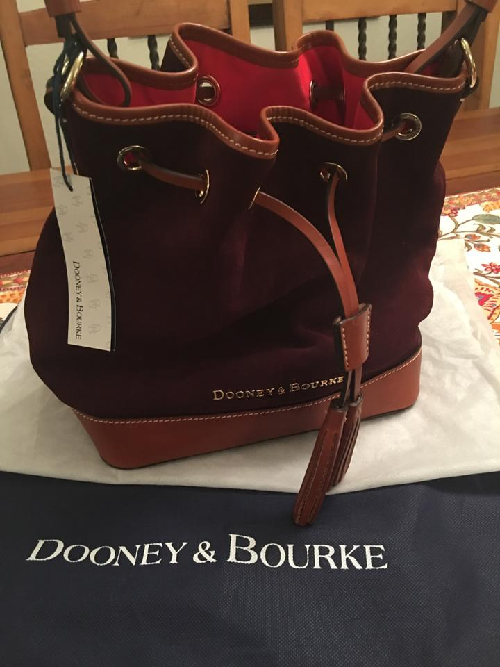 Dooney Bourke Suede Leather Hobo Shoulder Bag 1234567