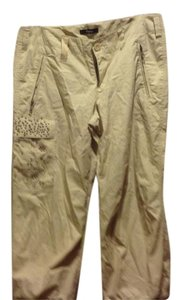 Express Cargo Pant With Metal Details Like New Personality Plus Capris Lacking Beige