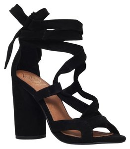Carvela Kurt Geiger Suede Summer Lace black Sandals