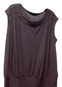 The Limited In Color Pearl Neckline Sleeveless Like New Top Gray