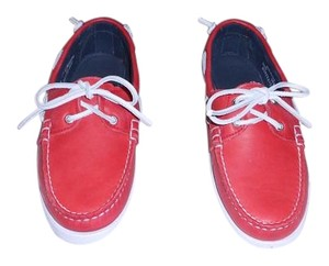 Ralph Lauren Collection Comfortable Woman's Moccasin Made In Usa Red Flats