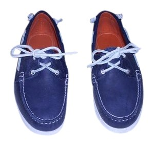 Ralph Lauren Collection Comfortable Woman's Moccasin Made In Usa Blue Flats