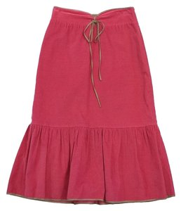 Paul & Joe Pink Tan Lace Up Skirt