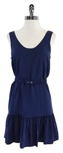 Joie short dress Blue Silk Sleeveless on Tradesy