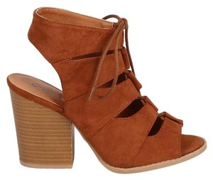 Qupid Dark Rust Sandals