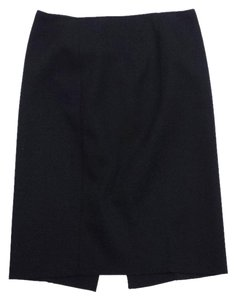 Magaschoni Black Polyester Silk Piping Skirt