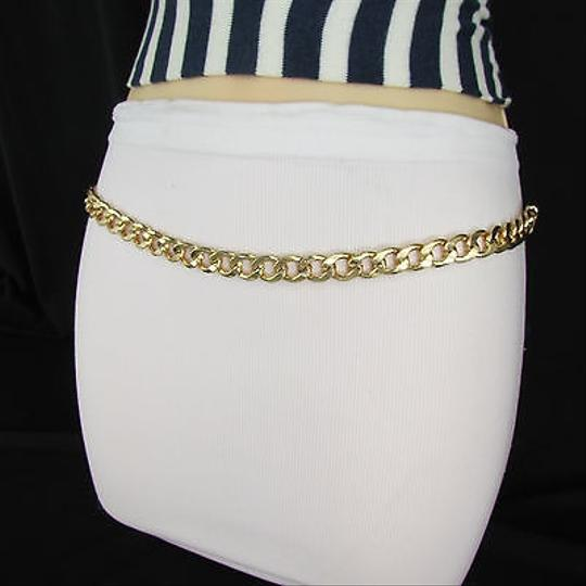 Other Women Hip High Waist Gold Metal Chain Fashion Belt Plus Size 32-50 M L Xl