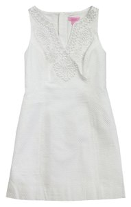 Lilly Pulitzer short dress White Embroidered Neckline on Tradesy