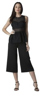 Royal Closet Jumpsuit Peplum Lace Pants