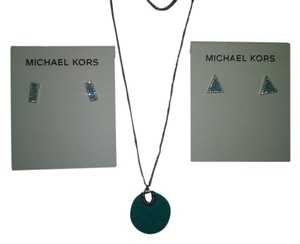 Michael Kors Pick your Earrings to Match the Turquoise Acetate Pendant