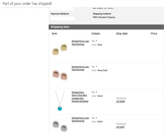 Michael Kors CHOOSE your Earrings to Match the Turquoise Acetate Pendant
