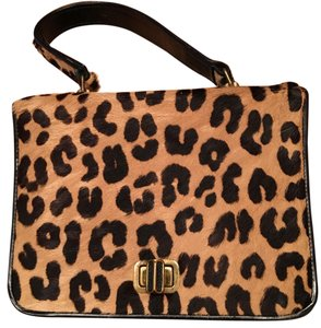 ARTMEX Satchel in Vintage. Oh So Sweet, Leopard Spotted Fur/Leather handbag