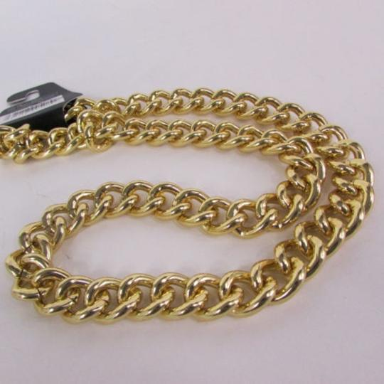Other Men Chunky Metal Thick Chains Long Necklace Gold Hip Hop