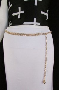 Other Women Gold Metal Hip Waist Fashion Belt