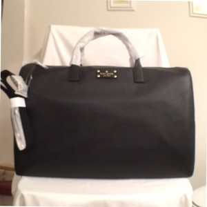 Kate Spade Leather New Nwt Black Travel Bag