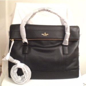 Kate Spade Leather New Nwt Tote Black Travel Bag