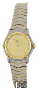 Ebel Ladies Ebel Classic Wave Mini 1057901 Steel 18K Gold Diamond Quartz