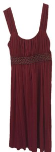 Soprano short dress Maroon on Tradesy