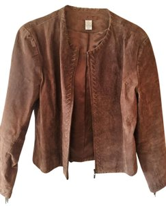 Chico's Leather Leather brown suede Leather Jacket