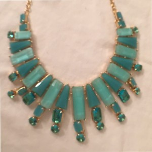 Kate Spade NEW! Necklace Beach Gem Statement 12K Gold Plated Epoxy Stones