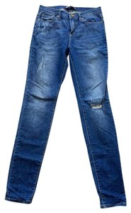 BDG Distressed High Rise Cigarette Skinny Jeans-Distressed