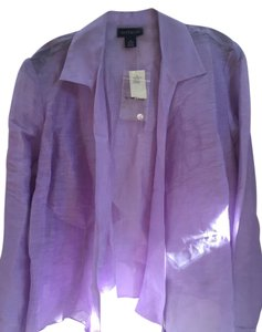 Ann Taylor Wrap Around Evening Top Purple