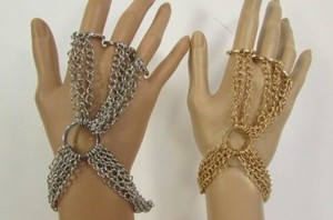 Other Women Bracelet Multi Hand Chains Fashion Fingers Slave Rings Gold Silver