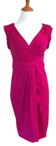 Diane von Furstenberg short dress Pink Fuchsia Wool on Tradesy