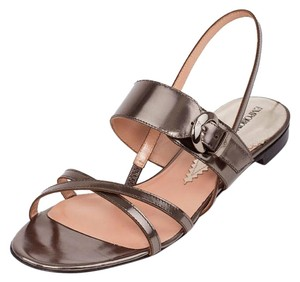 Emporio Armani Armani Leather Sandals Armani Sandals High-end Metallic Flats