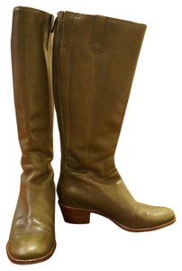 Cole Haan Leather Green Knee High Olive Boots