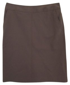 Talbots A-line Polyester Skirt Brown