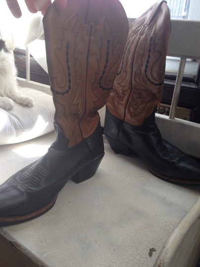 Other Black, Beige, Embroidered Boots