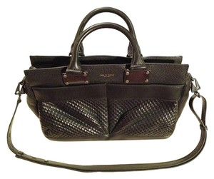 Rag & Bone Pebbled Leather Satchel in Black